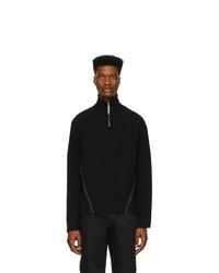 Jersey de cuello alto con cremallera negro de Spencer Badu