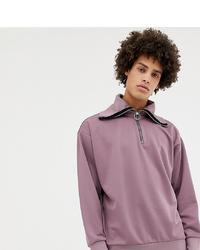 Jersey de cuello alto con cremallera violeta claro de Noak