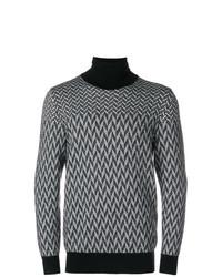 Jersey de cuello alto con estampado geométrico en negro y blanco de Givenchy