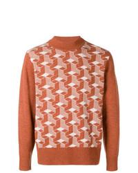 Jersey de cuello alto con estampado geométrico marrón de Levi's Vintage Clothing