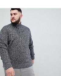 Jersey de cuello alto de botones gris de BadRhino