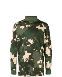 Jersey de cuello alto de camuflaje verde oscuro de 032c