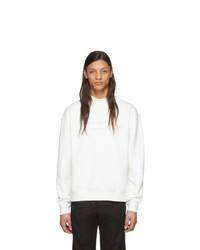Jersey de cuello alto de forro polar blanco de Alexander Wang