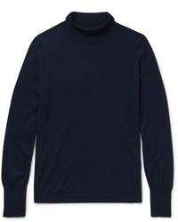 Jersey de cuello alto de lana azul marino de Acne Studios