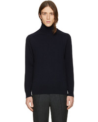 Jersey de cuello alto de lana azul marino de AMI Alexandre Mattiussi