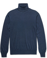 Jersey de cuello alto de lana azul marino de Brioni