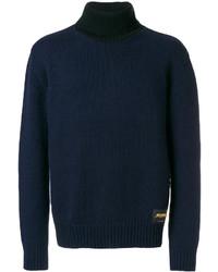 Jersey de cuello alto de lana azul marino de Stella McCartney