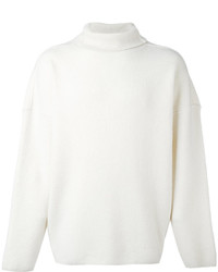 Jersey de cuello alto de lana blanco de AMI Alexandre Mattiussi
