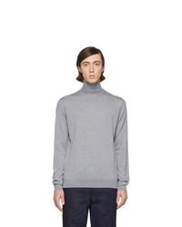 Jersey de cuello alto de lana de punto gris de Lanvin