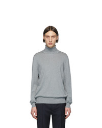 Jersey de cuello alto de lana de punto gris de Maison Margiela