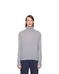 Jersey de cuello alto de lana de punto gris de Thom Browne