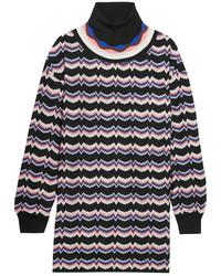 Jersey de cuello alto de lana de punto violeta claro de Missoni