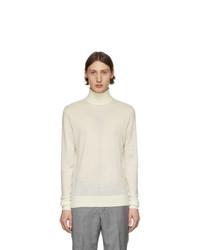 Jersey de cuello alto de lana en beige de Tiger of Sweden
