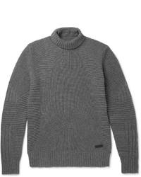 Jersey de cuello alto de lana en gris oscuro de Belstaff