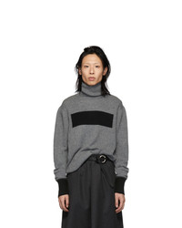 Jersey de cuello alto de lana en gris oscuro de Random Identities