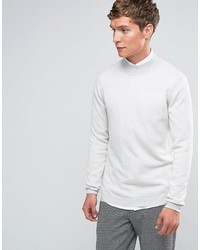 Jersey de cuello alto de lana gris de Asos