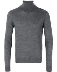 Jersey de cuello alto de lana gris de DSQUARED2