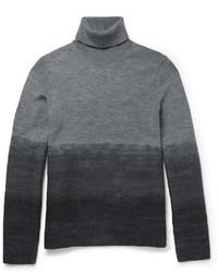 Jersey de cuello alto de lana gris de Michael Kors