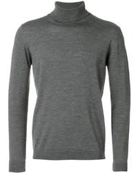 Jersey de cuello alto de lana gris de Roberto Collina