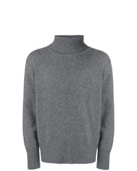 Jersey de cuello alto de lana gris de Societe Anonyme
