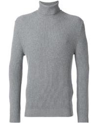 Jersey de cuello alto de lana gris de Tom Ford