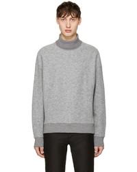 Jersey de cuello alto de lana gris de Wooyoungmi