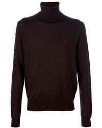 Jersey de cuello alto de lana marrón de Ralph Lauren Blue Label