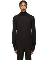 Jersey de cuello alto de lana negro