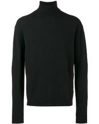 Jersey de cuello alto de lana negro de Haider Ackermann