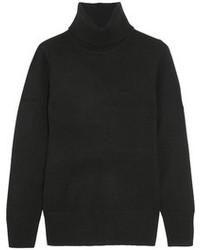 Jersey de cuello alto de lana negro de J.Crew