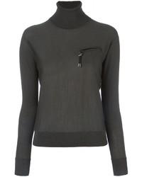 Jersey de cuello alto de lana verde oliva de Dsquared2