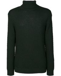 Jersey de cuello alto de lana verde oscuro de Etro