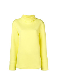 Jersey de cuello alto de punto amarillo de MM6 MAISON MARGIELA