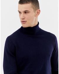 Jersey de cuello alto de punto azul marino de Jack & Jones