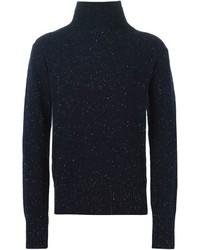 Jersey de cuello alto de punto azul marino de Oliver Spencer