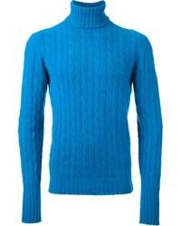 Comprar un jersey de cuello alto de punto azul de farfetch.com  elegir  jerséis de cuello alto de punto azules más populares de mejores marcas dabeb9a052bc