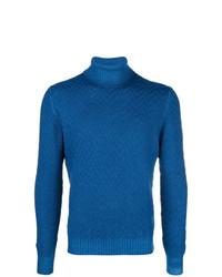 Comprar un jersey de cuello alto de punto azul  elegir jerséis de ... 4a8382ae6889