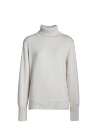 Jersey de cuello alto de punto blanco de Burberry