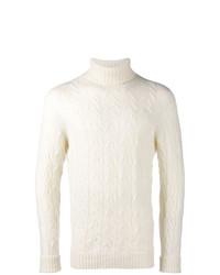Jersey de cuello alto de punto blanco de Drumohr