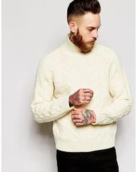 Jersey de cuello alto de punto en beige de Levi's