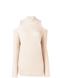 Jersey de cuello alto de punto en beige de Zoe Jordan