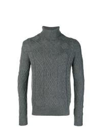 Jersey de cuello alto de punto en gris oscuro de Ballantyne