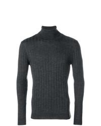 Jersey de cuello alto de punto en gris oscuro de Barena