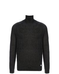 Jersey de cuello alto de punto en gris oscuro de CP Company