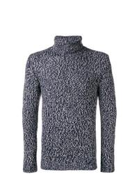 Jersey de cuello alto de punto en gris oscuro de Cruciani