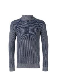 Jersey de cuello alto de punto en gris oscuro de Daniele Alessandrini