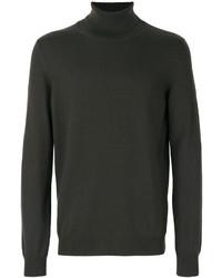 Jersey de cuello alto de punto en gris oscuro de Jil Sander