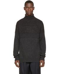 Jersey de cuello alto de punto en gris oscuro de Juun.J