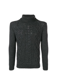 Jersey de cuello alto de punto en gris oscuro de Tagliatore