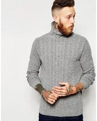 Jersey de cuello alto de punto gris de Asos